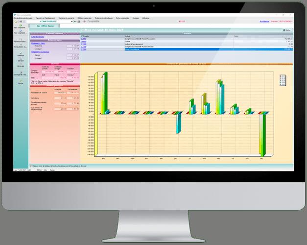 Visuel logiciel Cloé gestion compta pour associations