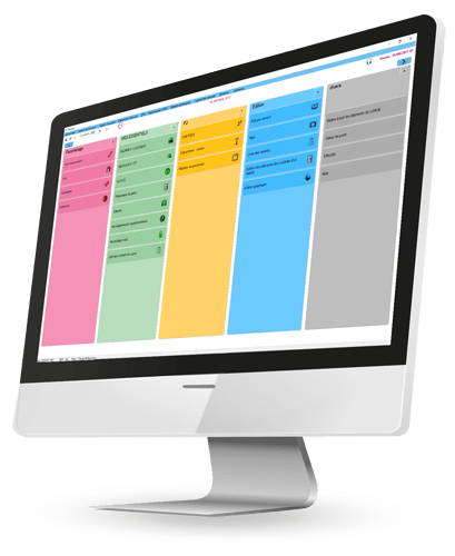 Visuel d'un ordinateur avec le logiciel Cloé