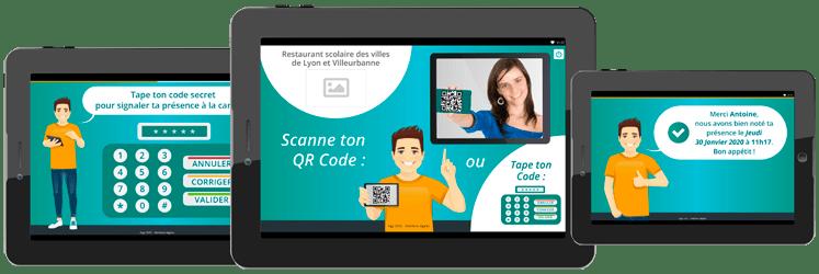 Visuel tablette gestion cantine scolaire