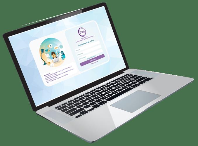 Visuel ordinateur connexion au logiciel web iNoé