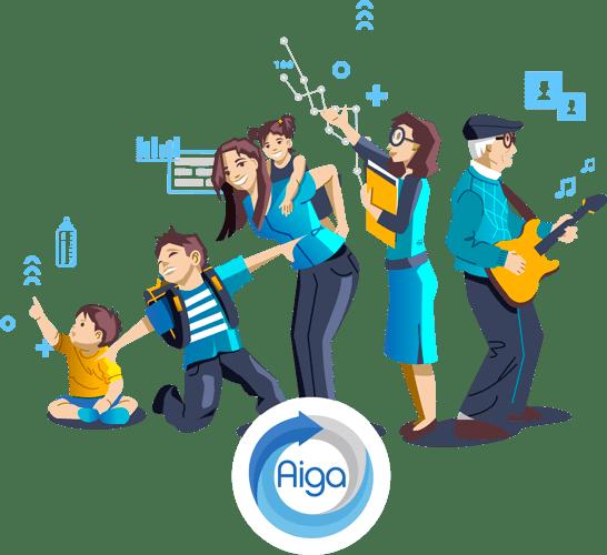Illustration logo société Aiga