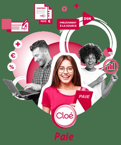 visuel d'illustration logiciel paies associations Cloé